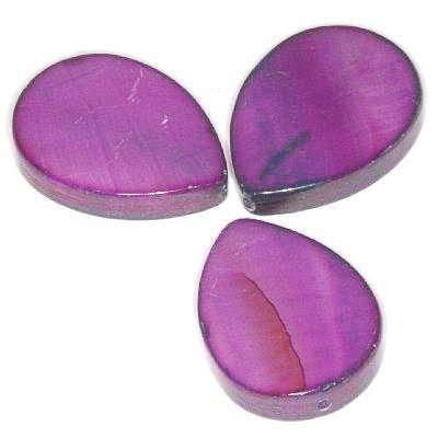masa perłowa łezki 13 x 18 mm ametystowe