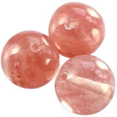 kwarc wiśniowy 14 mm kamień jubilerski