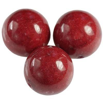 boules jadéit de roche rubis 10 mm