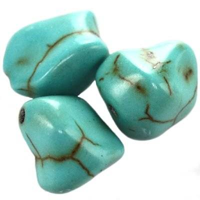 turquoise huge chips 10 x 12 mm / semi-precious stone synthetic