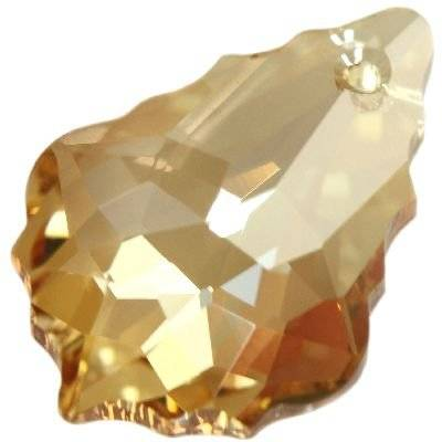Swarovski baroque pendants crystal golden shadow 22 x 15 mm