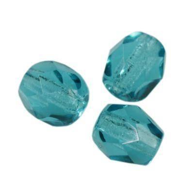 round beads blue zircon 4 mm