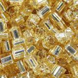 Toho beads hex silver-lined lt topaz 2.2 mm TH-11-22