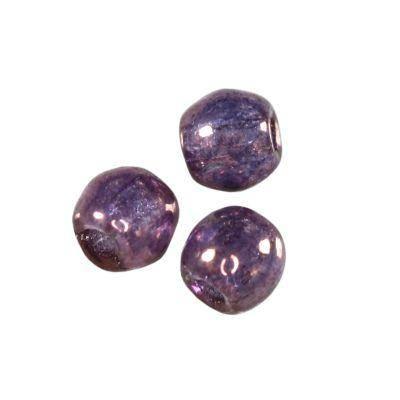 round beads amethyst 3 mm
