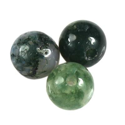 agate moss beads 4 mm / semi-precious stone