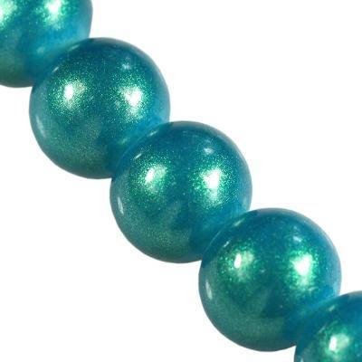 Perles Gold Powder classique azur 10 mm