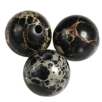 jaspis cesarski kule czarne 10 mm kamień naturalny barwiony