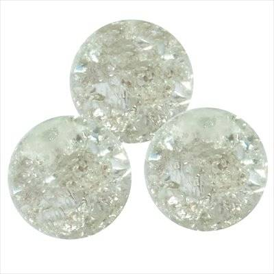 crackle beads beads white 12 mm