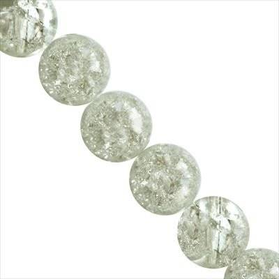 crackle beads white 12 mm