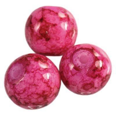 Perline rivestite fucsia 10 mm