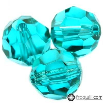 Swarovski round beads blue zircon 6 mm
