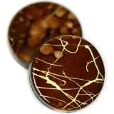 coins fancy plastic brown 18 mm