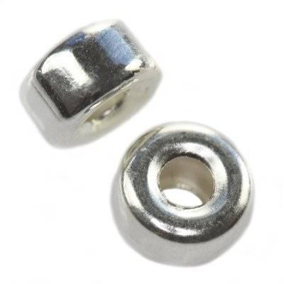 argento 925 distanziale pneumatico liscio 5 mm