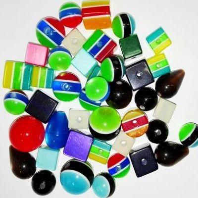 Mega pack polyresin beads 8-20 mm
