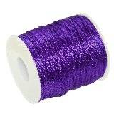 satin cord plum 2 mm
