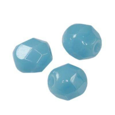 Czech Fire Polished beads 4mm round candy blue