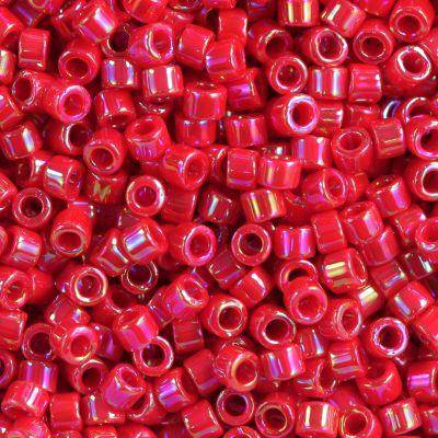 Miyuki Delica opaque red ab 1.6 x 1.3 mm DB-0162