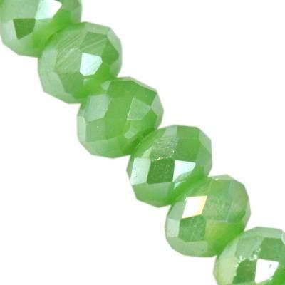 Kryształki CrystaLine rondelle apple green AB 4 x 6 mm