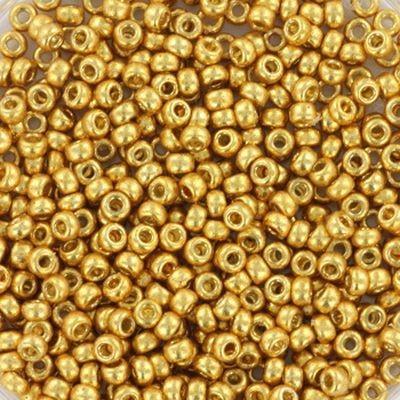 Miyuki round beads duracoat galvanized gold 11/0