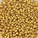 Miyuki round beads duracoat galvanized gold 11/0 #11-4202