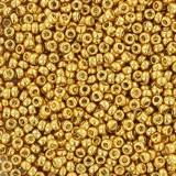 Perles Miyuki round duracoat galvanized gold 15/0 #15-4202