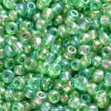 glass seed beads lime green mix 2 mm