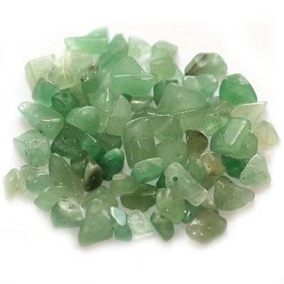 green aventurine chips / semi-precious stone