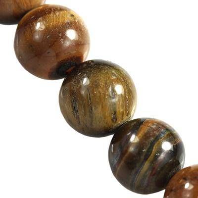 tiger eye round beads 8 mm / semi-precious stone