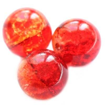 crackle beads beads orange 12 mm