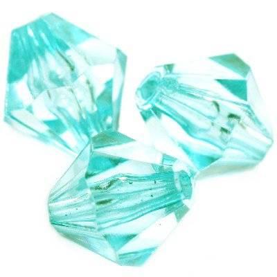 cristaux en plastique en diamant turquoise 16 mm