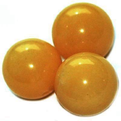 nephrite beads amber 14 mm / semi-precious stone dyed
