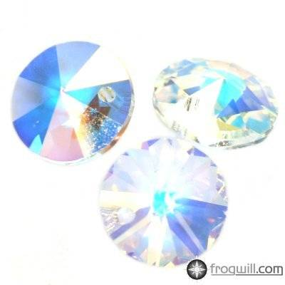 Swarovski rivoli pendants crystal ab 8 mm