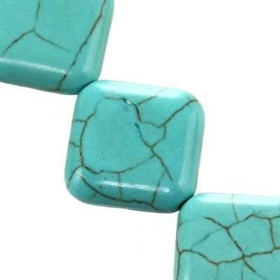 turquoise squares / semi-precious stone synthetic