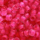 perline Toho round inside-color matte crystal/neon pink line 3 mm TR-08-971