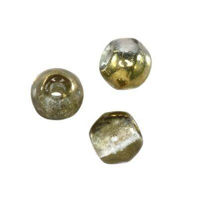 round beads silky gold 3 mm