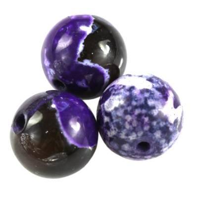 agat smocze oko ametystowy 8 mm kamień naturalny barwiony