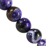 agate dragon eye purple round 8 mm pierre teinte