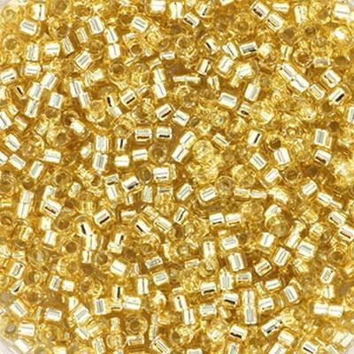 koraliki Miyuki Delica silverlined crystal ivory 1.6 x 1.3 mm DB-1212