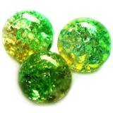 crackle beads beads green 12 mm
