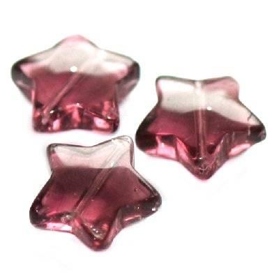 gwiazdki ametystowe 12 mm / koraliki szklane