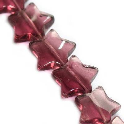 glass beads star amethyst 12 mm
