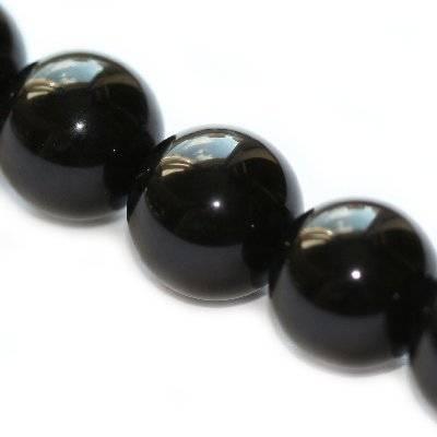 czarny onyks 14 mm kamień półszlachetny syntetyczny