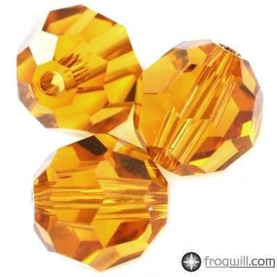 Swarovski round beads topaz 6 mm