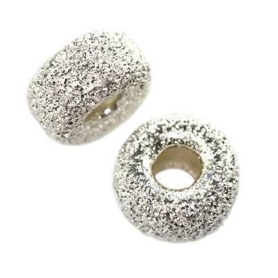 sterling silver 925 spacer donut ornamental 4 mm
