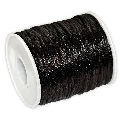 corde en satin noire 2 mm