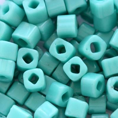 Toho beads cube opaque turquoise 3 mm TC-03-55
