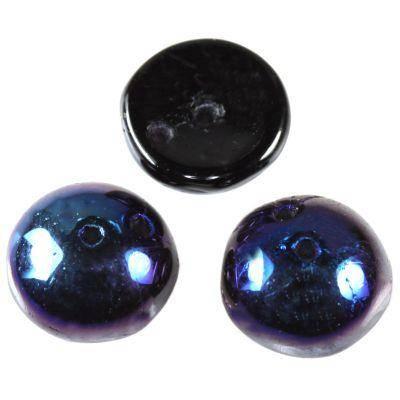 piggy beads black navy blue 4 x 8 mm
