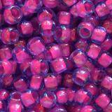 perline Toho round luminous lt sapphire/neon pink lined 3 mm TR-08-980