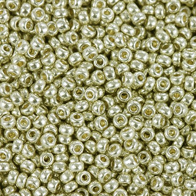 Miyuki round beads duracoat galvanized silver 11/0