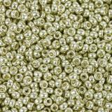 Miyuki round Perlen duracoat galvanized silver 11/0